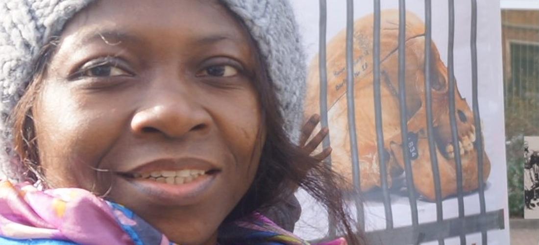 Das Foto zeigt ein Porträt von Millicent Adjei.