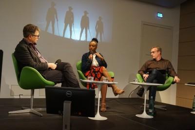 Prof. Dr. Jürgen Zimmerer, Vitjitua Ndjiharine und Marc Erwin Babej (c) Kim Todzi
