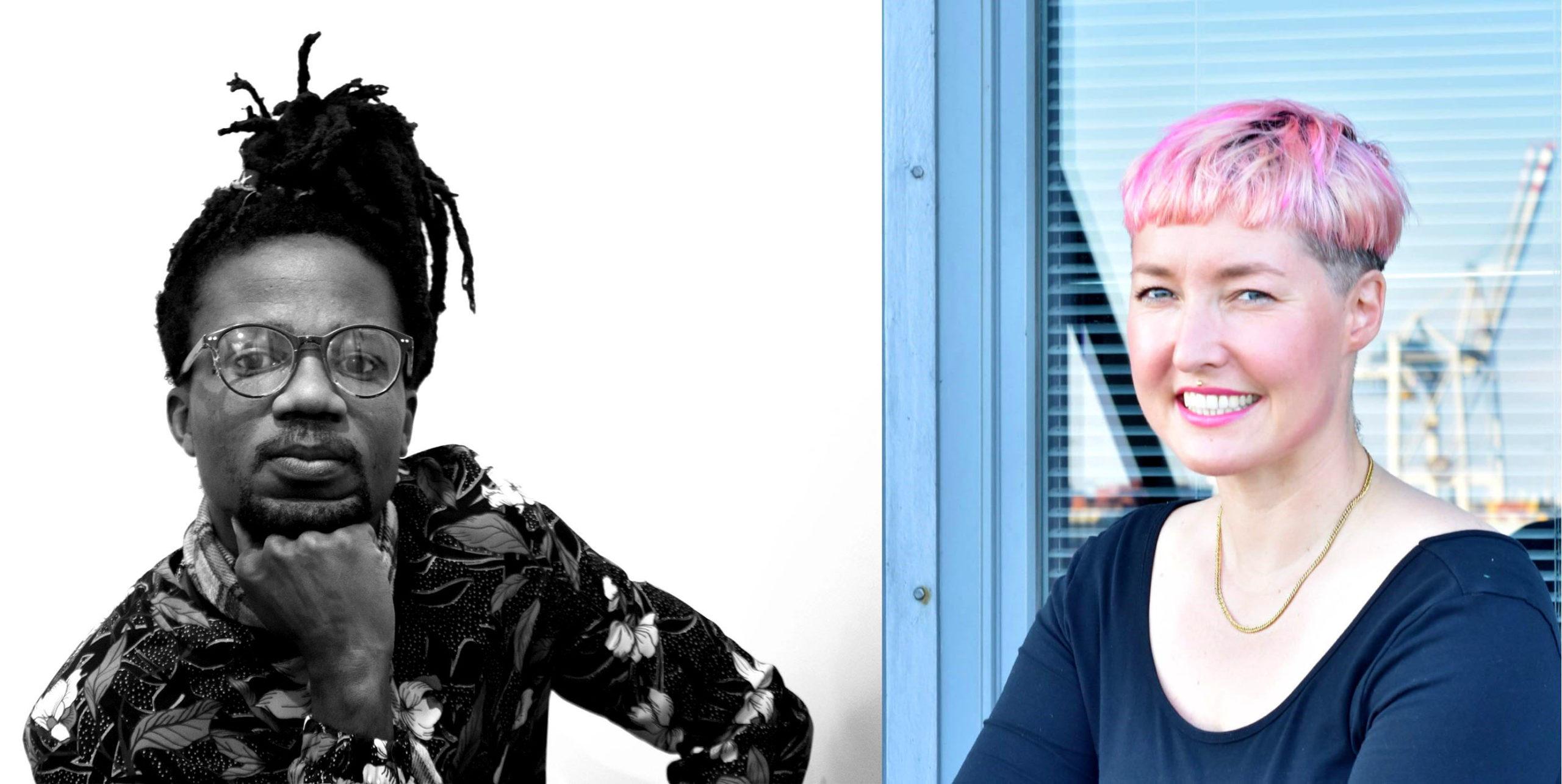 Porträts von Wilfried Nakeu und Gisela Ewe