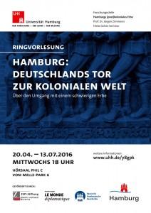 Ringvorlesung: Hamburg: Deutschlands Tor zur kolonialen Welt. Über den Umgang mit einem schwierigen Erbe