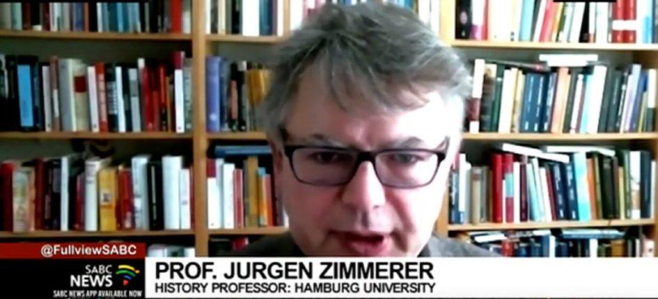 Prof. Dr. Jürgen Zimmerer im SABC-Interview - Screenshot