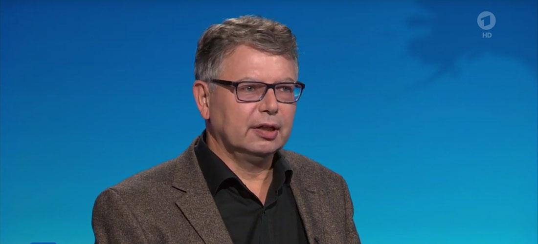 Prof. Dr. Jürgen Zimmerer in der Tagesschau (Screenshot)
